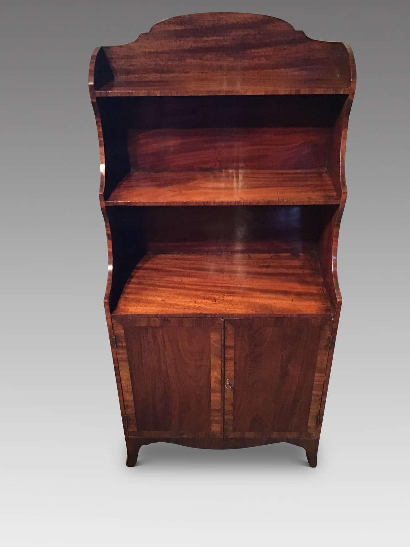Georgian open bookcase