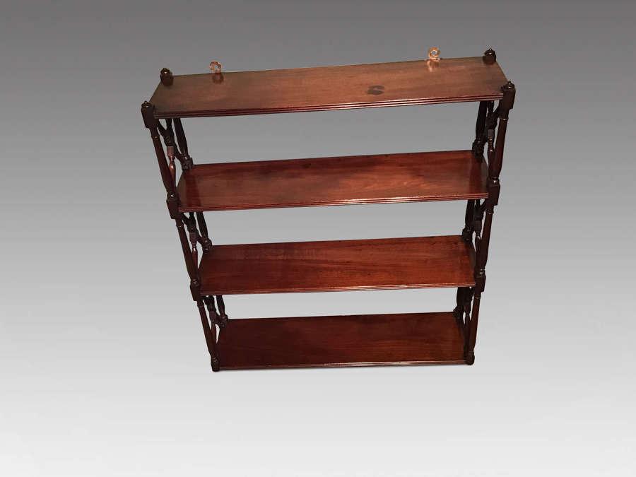 Antique mahogany wall shelves