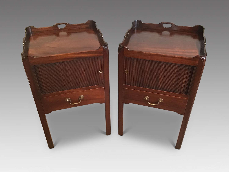 Pair mahogany bedside cabinets
