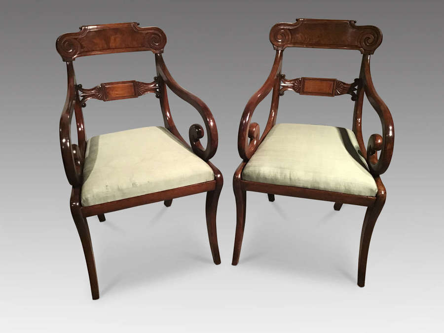 Pair of antique elbow chairs