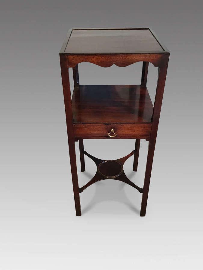 Georgian mahogany bedside table.