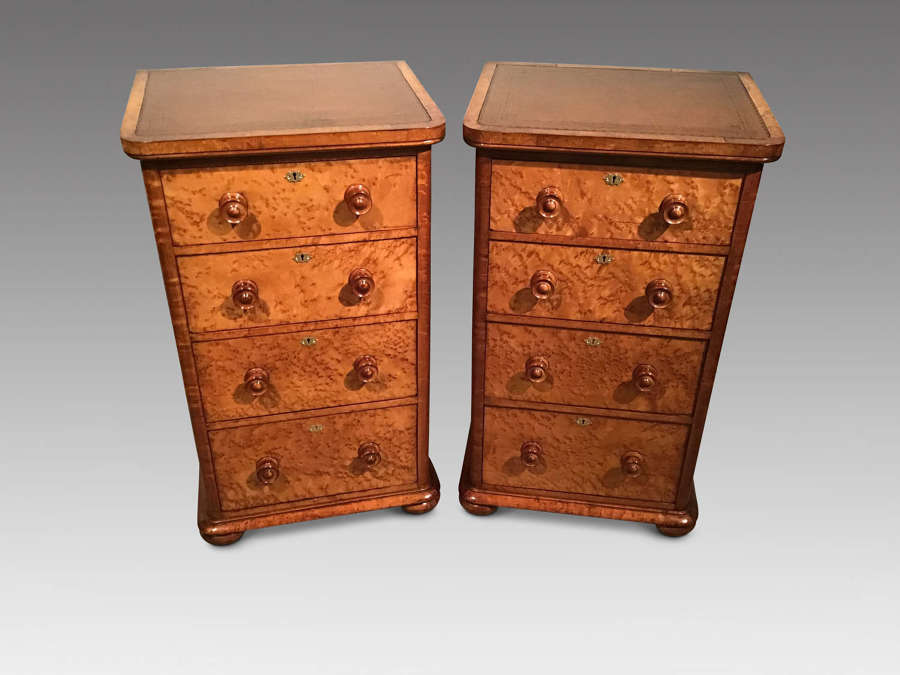 Pair antique bedside chests