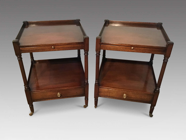 Pair mahogany end tables